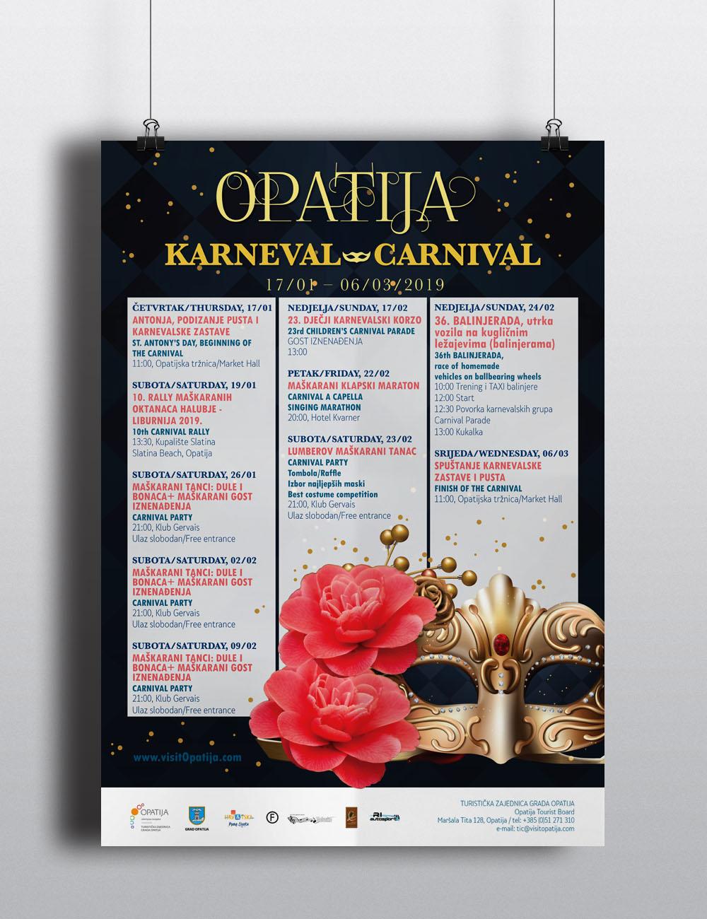 opatija karneval plakat